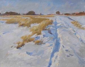 Зимняя тропа.2007, к.м., 40Х50 см